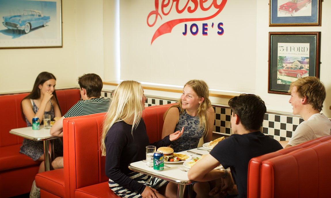 Teenagers in Jersey Joe's Diner