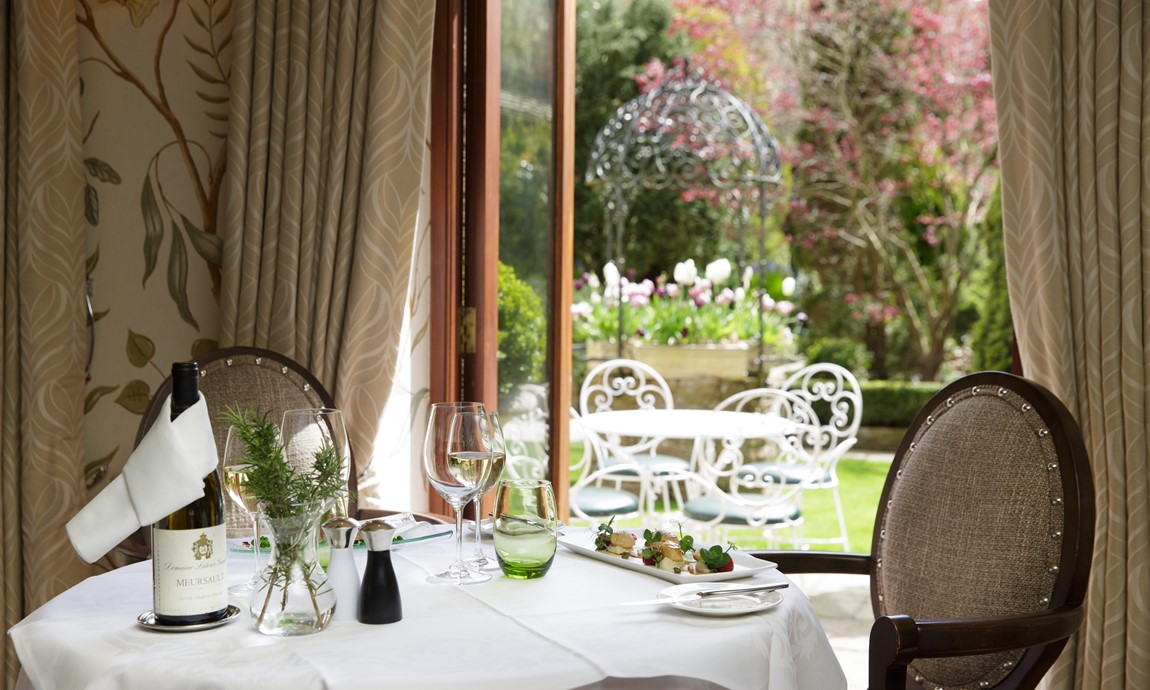 Greenhills restaurant, with garden views