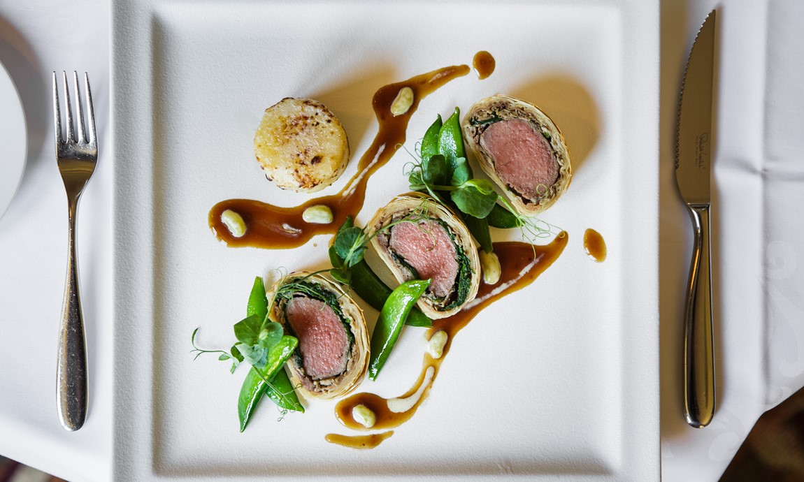 Lamb loin Wellington
