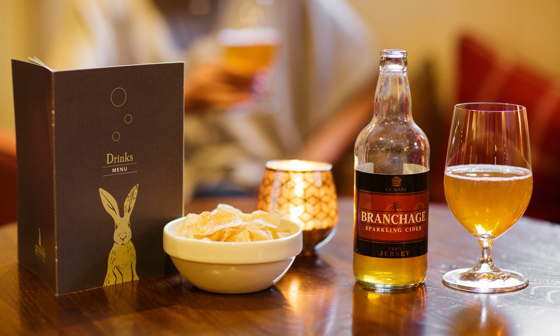 Local 'Branchage' cider in the lounge