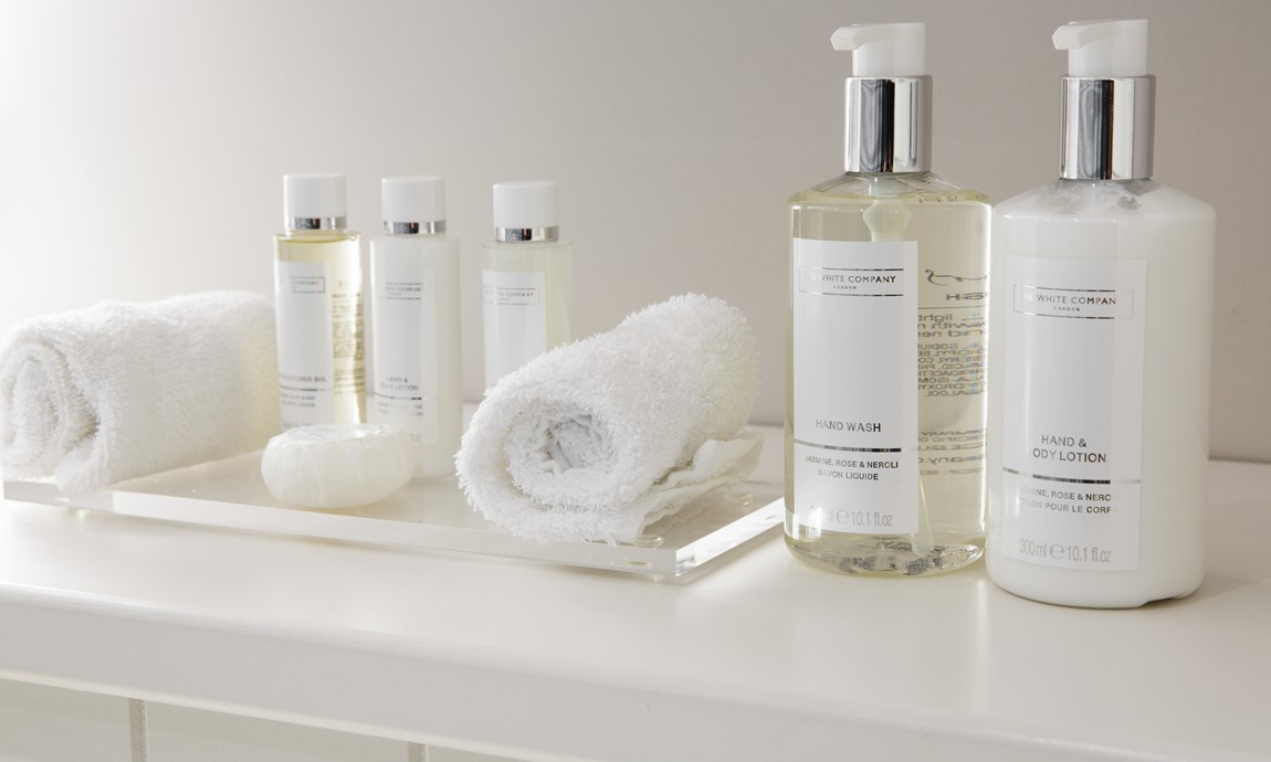 Luxurious toiletries by The White Company