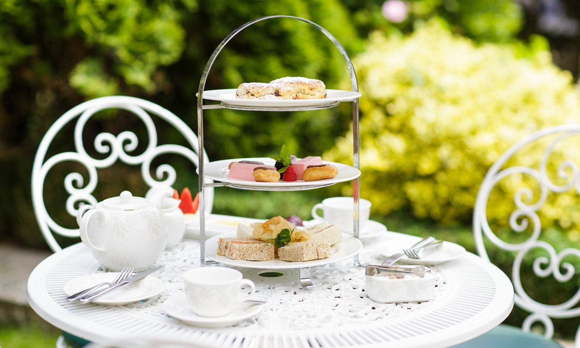 Afternoon tea in the gardens