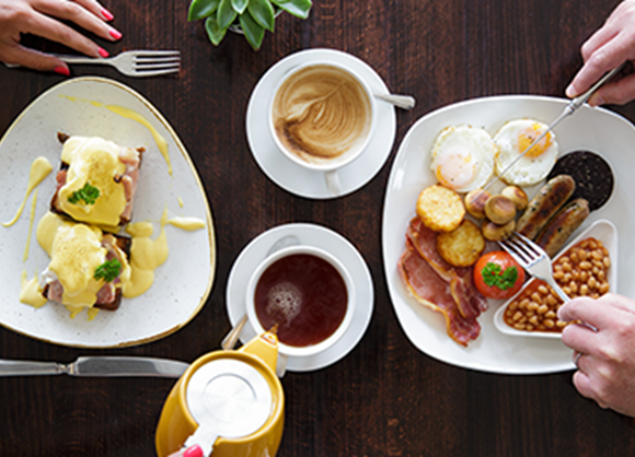 Take a break! Enjoy brunch at the Pomme