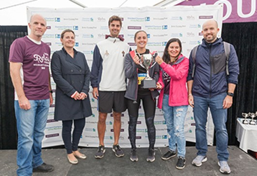 'Super Seymour' marathon team wins Hospitality Cup!