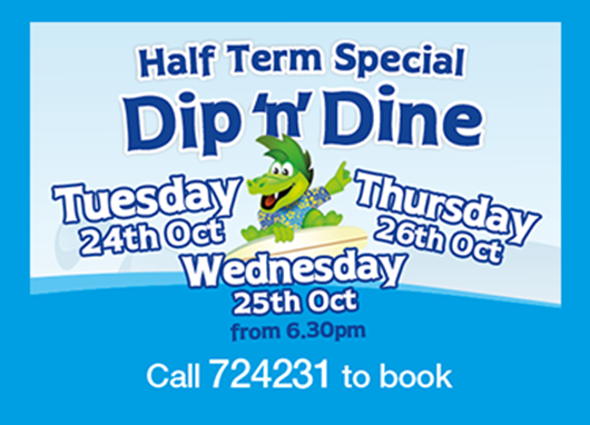 Kids love our half term Dip 'n' Dine!