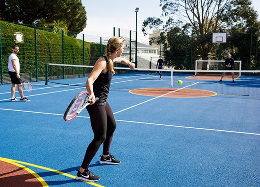 Outdoor tennis, five-a-side and basketball court for hire